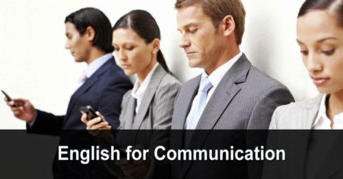 English for Communication (anglais pour la communication)