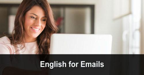 English for Emails (anglais pour les e-mails)