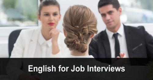 English for Job Interviews (anglais pour les entretiens d'embauche)