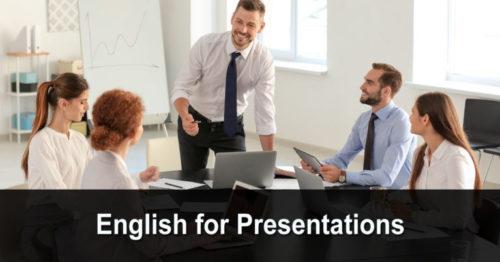 English for Presentations (anglais pour les présentations)