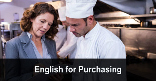 English for Purchasing (anglais pour les achats)