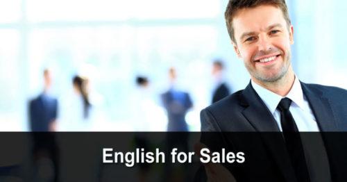English for Sales (anglais pour la vente)