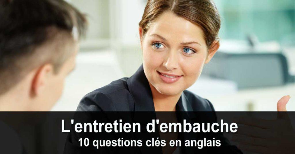 Job Interviews (10 questions clés)