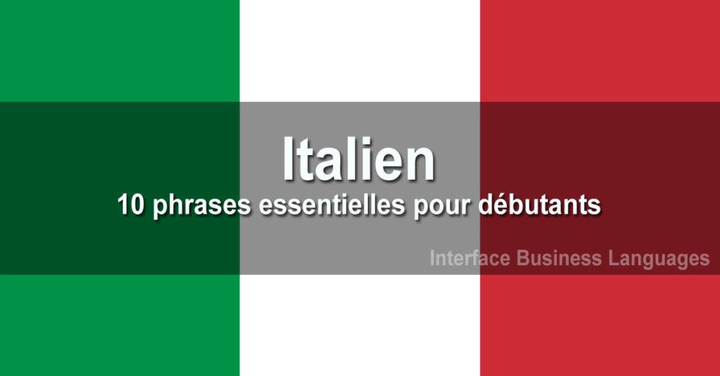 Italien : 10 phrases essentielles pour débutants