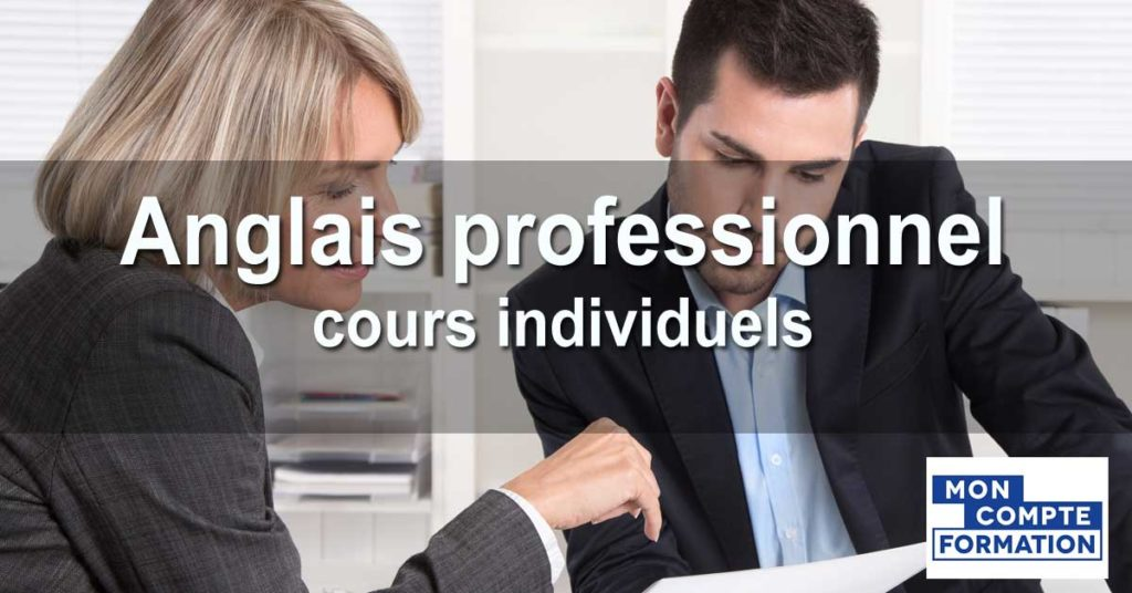 Anglais professionnel - cours individuels (CPF)