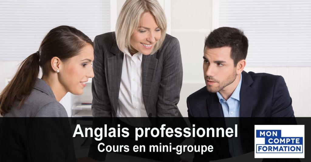Anglais professionnel - cours en mini-groupe