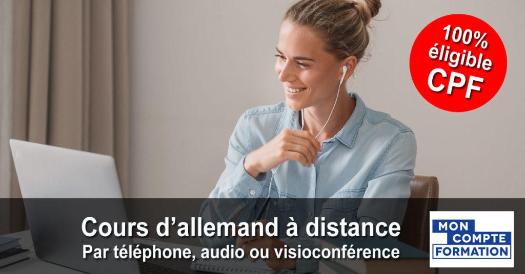 Allemand - Cours individuels par téléphone, audio ou visioconférence