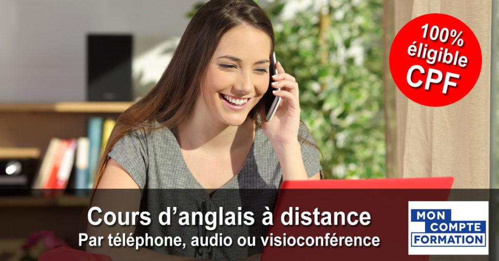 Anglais - Cours individuels par téléphone, audio ou visioconférence