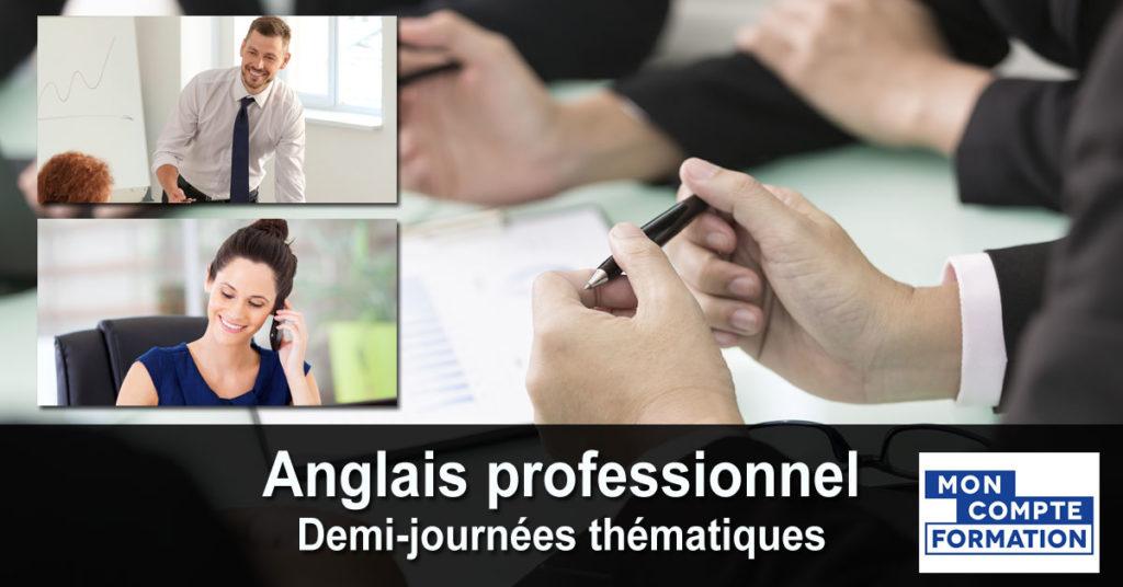 Anglais professionnel - demi-journées thématiques