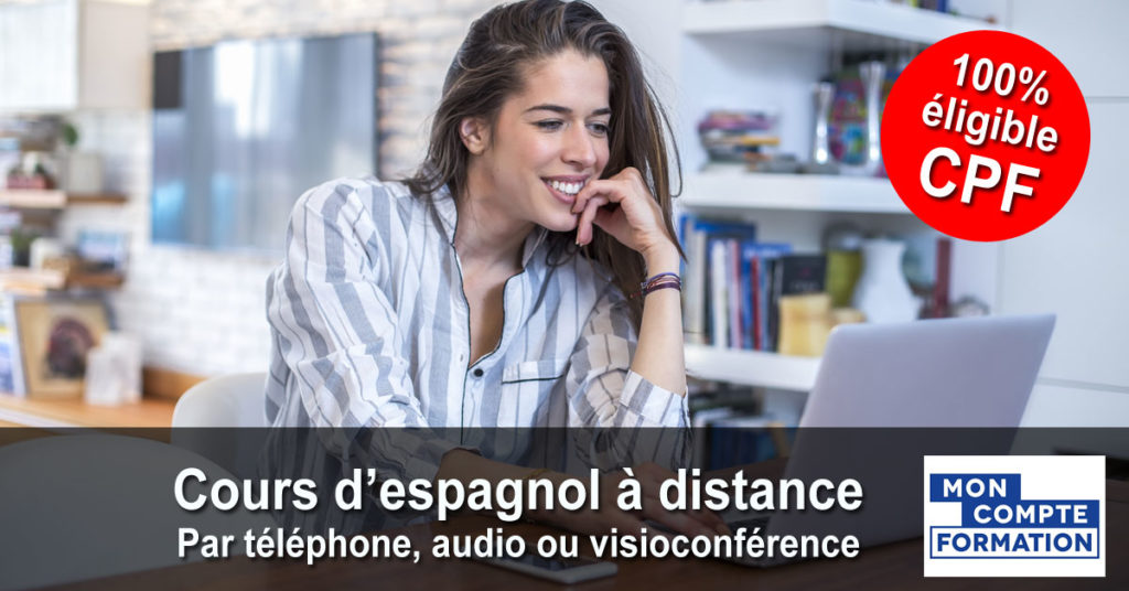 Espagnol - Cours individuels par téléphone, audio ou visioconférence