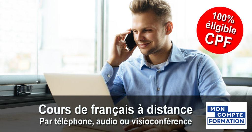 Français - Cours individuels par téléphone, audio ou visioconférence