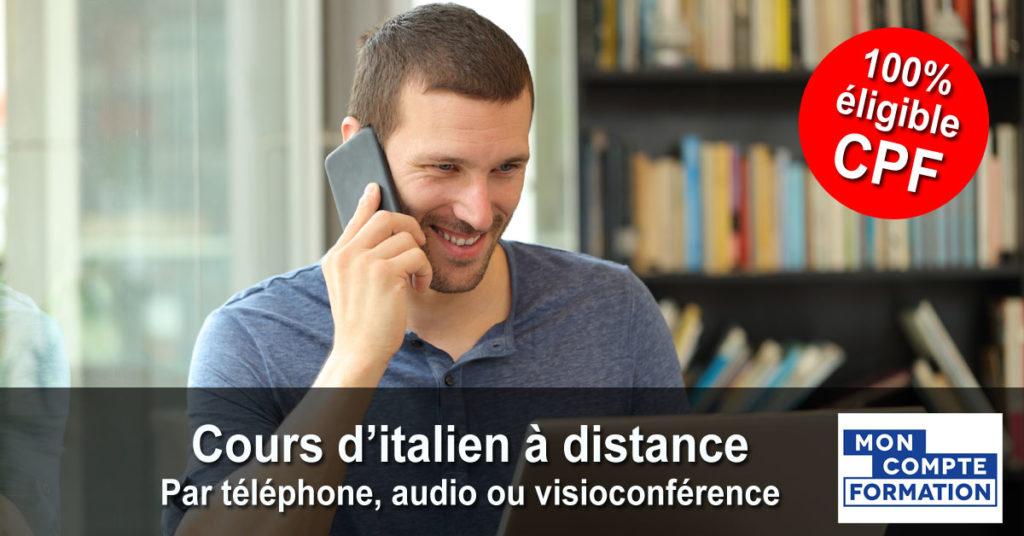 Italien - Cours individuels par téléphone, audio ou visioconférence