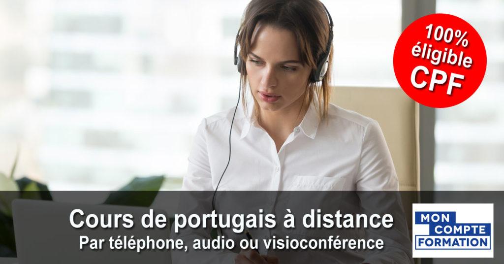Portugais - Cours individuels par téléphone, audio ou visioconférence